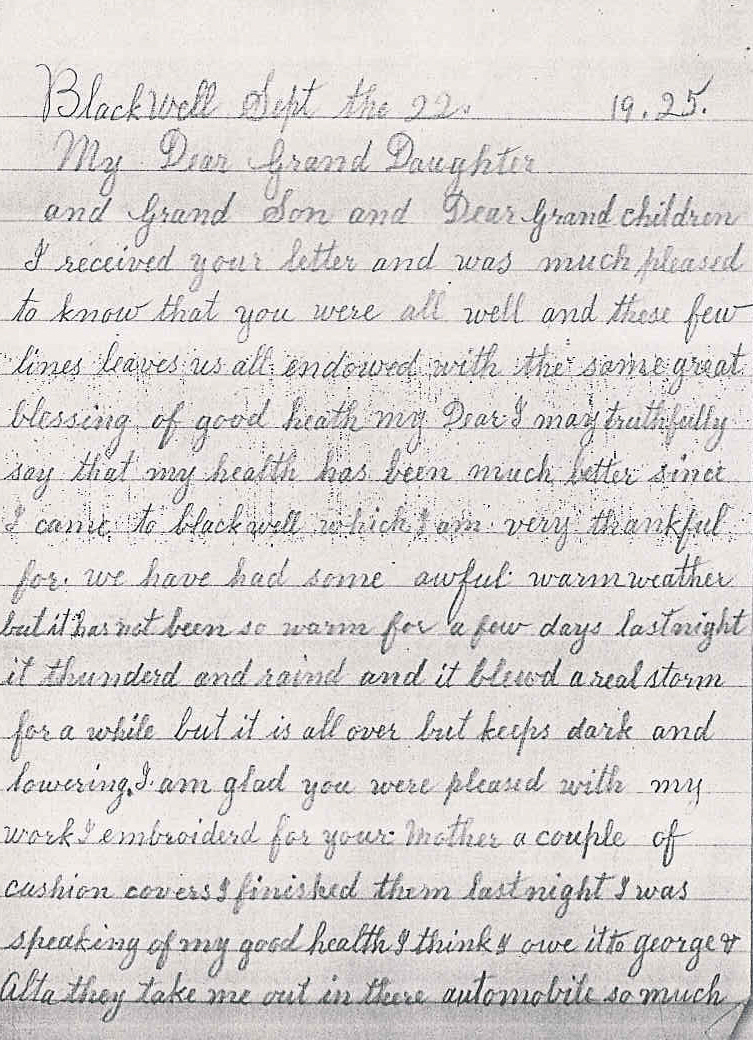 Grandmother Letter to Granddaughter | just b.CAUSE